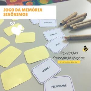 Jogo da Memória Sinônimos